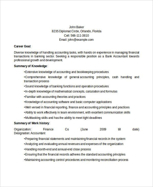 31 Accountant Resume Design Templates PDF DOC Free