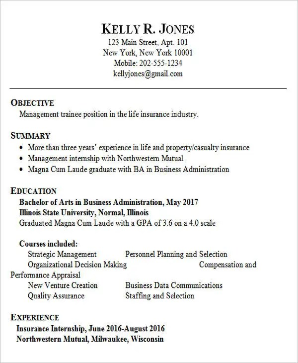 business administration resume business administration resume ...