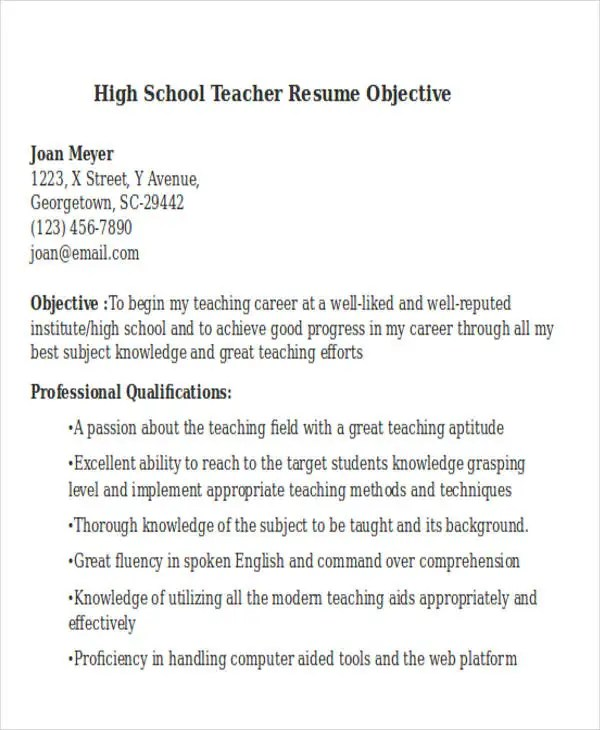 25 Teacher Resume Templates In Word Free & Premium
