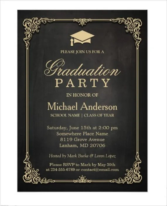 72 invitation card examples word