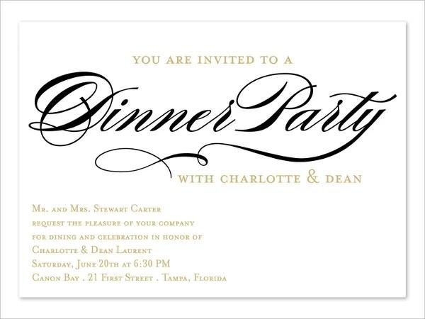 Invitation Card Business – Corporate Dinner Invitation Card
