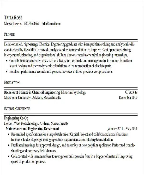 professional biomedical engineering resume template