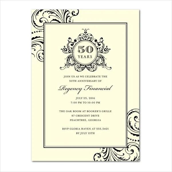 Business anniversary invitation template cogimbo 8 business anniversary invitations designs templates free stopboris Gallery