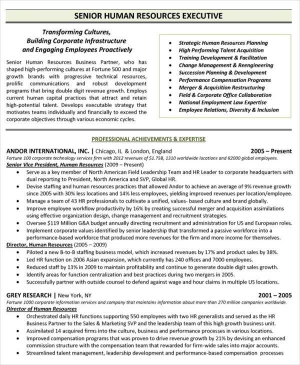 25 free executive resume templates pdf doc premium - Free Executive Resume