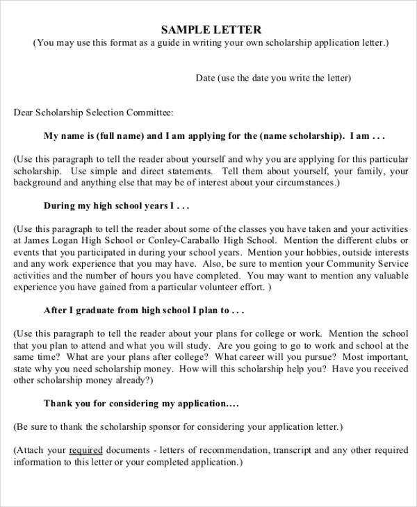 41 Application Letter Templates Format DOC PDF Free