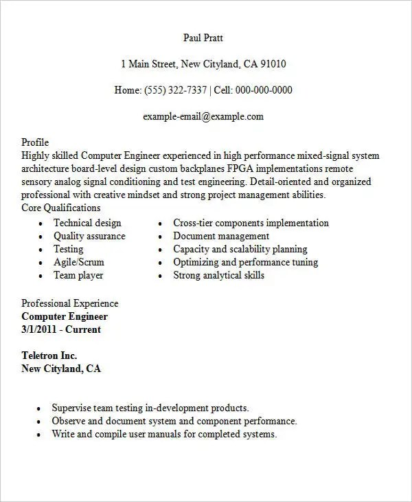 30 Modern Engineering Resume Templates  Free  Premium
