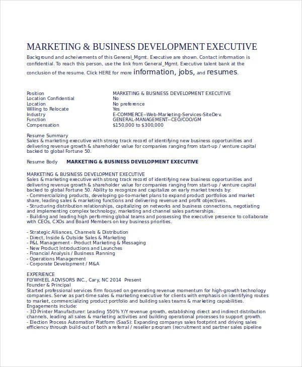resume for job doc file