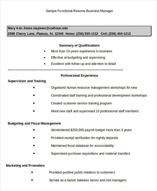 24 Business Resume Templates Free & Premium Templates