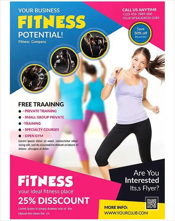 Group Fitness Flyers Ideal Vistalist Co