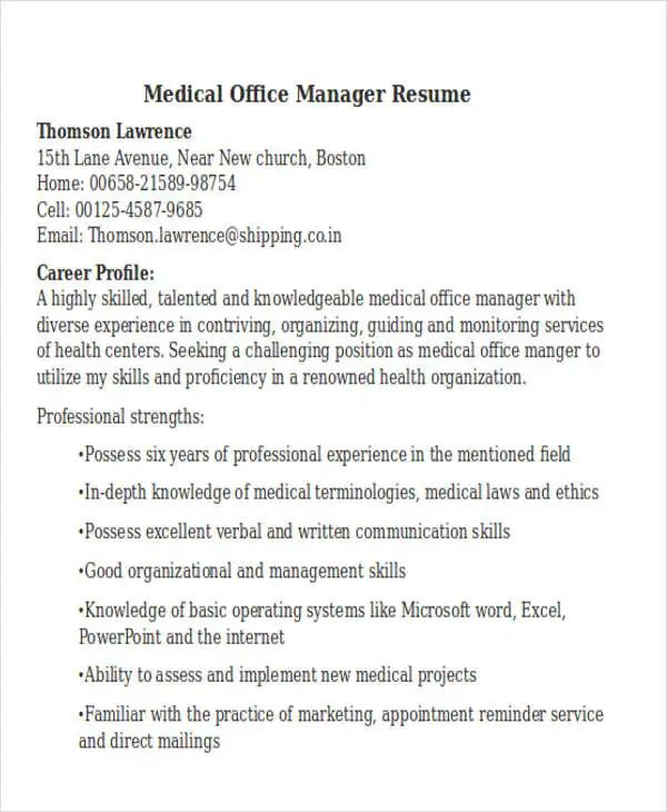 office resume templates download
