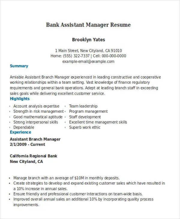 Assistant Shipping Manager Resume Top 8