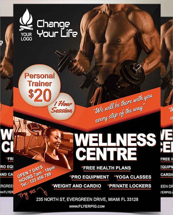46+ Printable Fitness Flyers   Free & Premium Templates