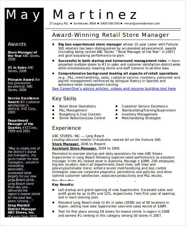 40 Free Manager Resume Templates  PDF DOC  Free