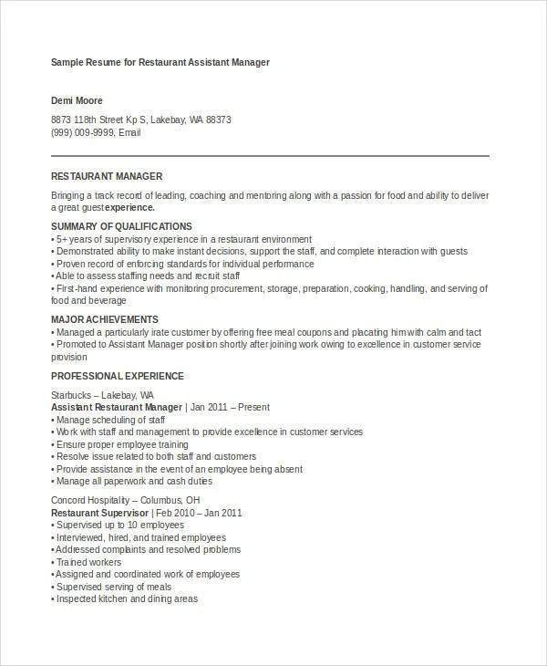 17 Manager Resume Templates PDF DOC Free & Premium