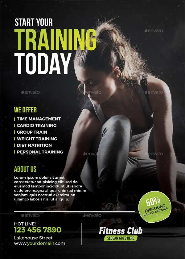 63 Fitness Flyer Examples PSD AI EPS Word Formats