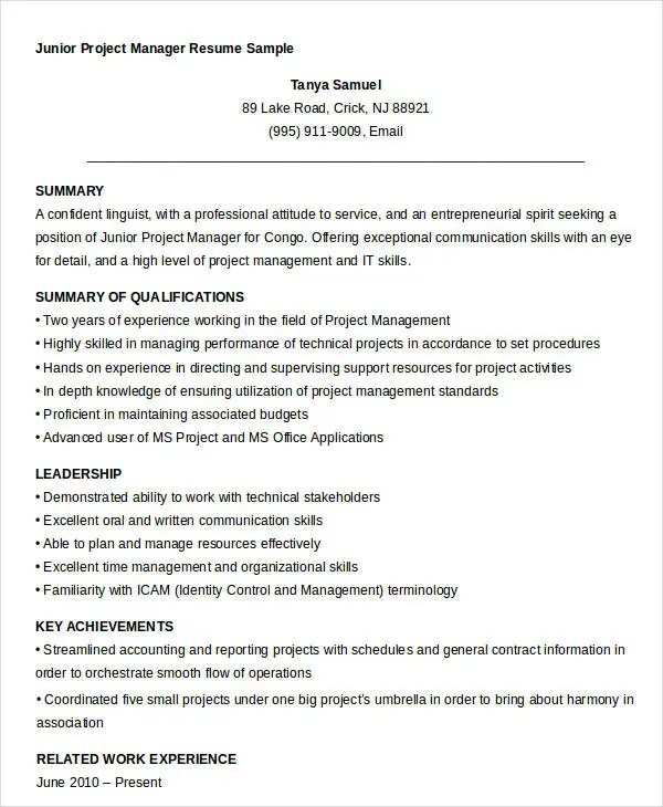 40 Free Manager Resume Templates PDF DOC Free