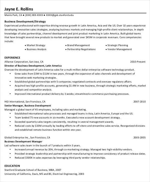 52 Professional Manager Resumes PDF DOC Free