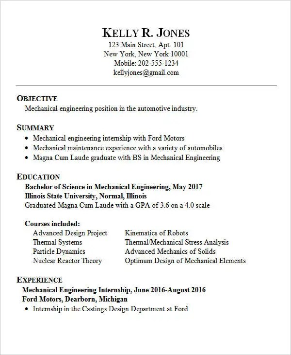 25 Best Engineering Resume Templates PDF DOC Free