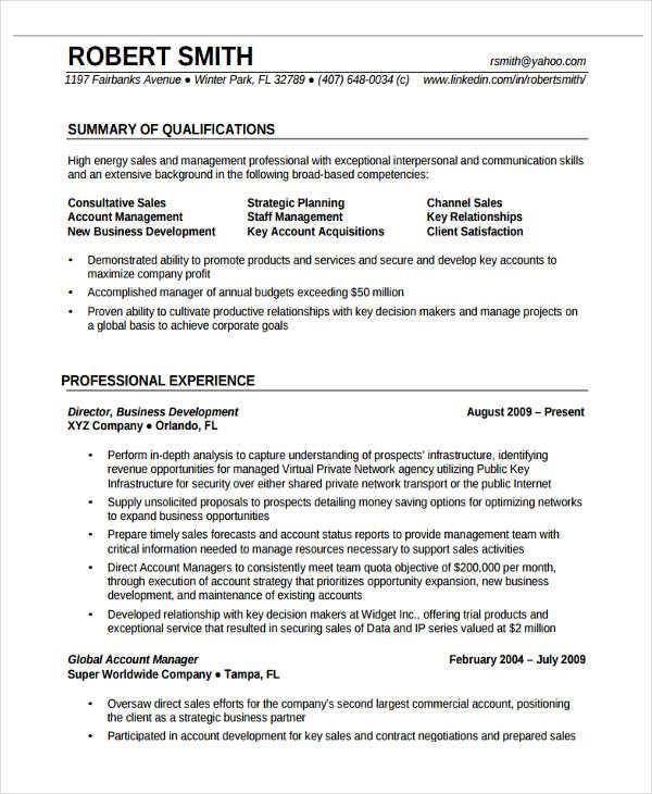 sample professional skills in resume