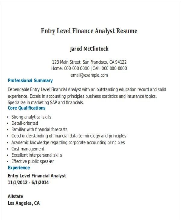 25 Professional Finance Resume Templates Free & Premium