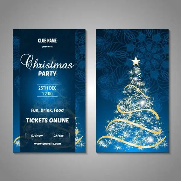 free christmas party templates