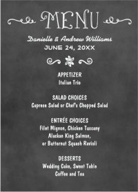 Chalkboard Menus. chalkboard menu flyer. digital chalk