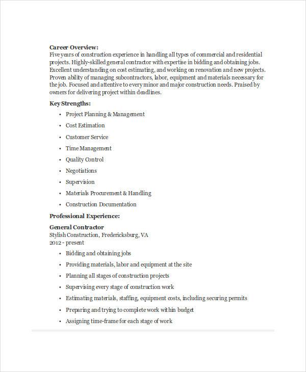 15 Printable Work Resume Templates  PDF DOC  Free