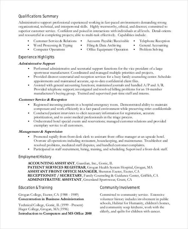 15 Best Work Resume Templates  PDF DOC  Free  Premium