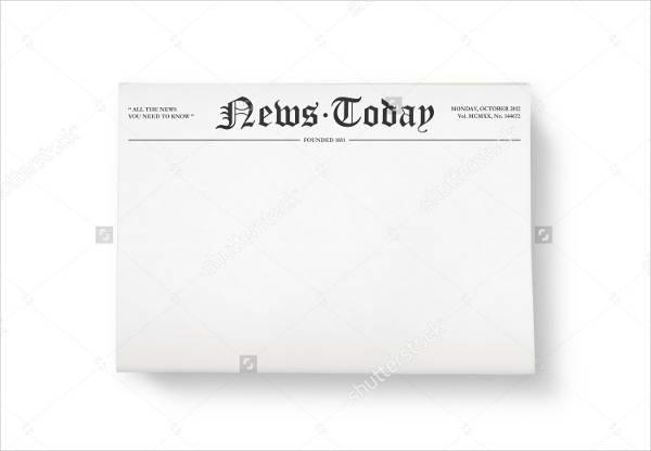 blank colonial newspaper template