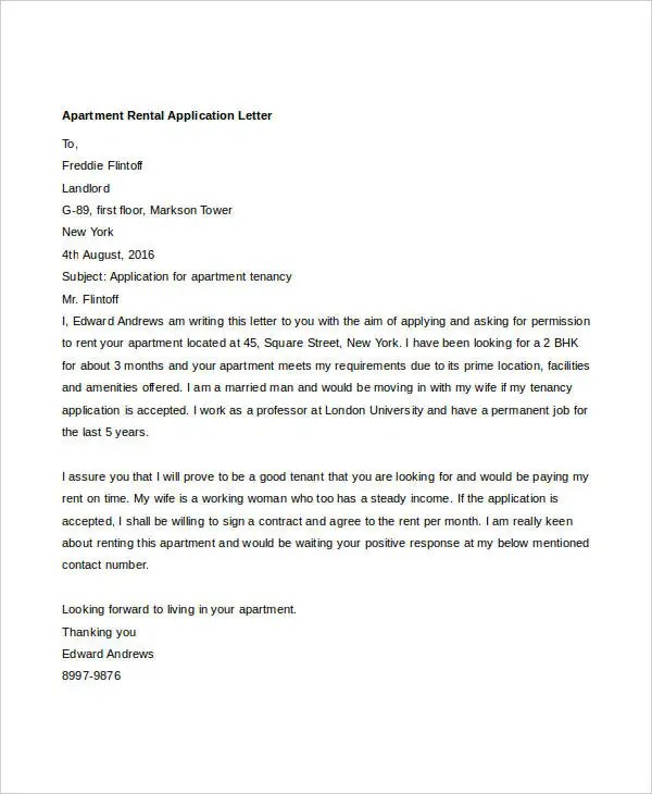 27 Free Application Letter Templates  Free  Premium Templates