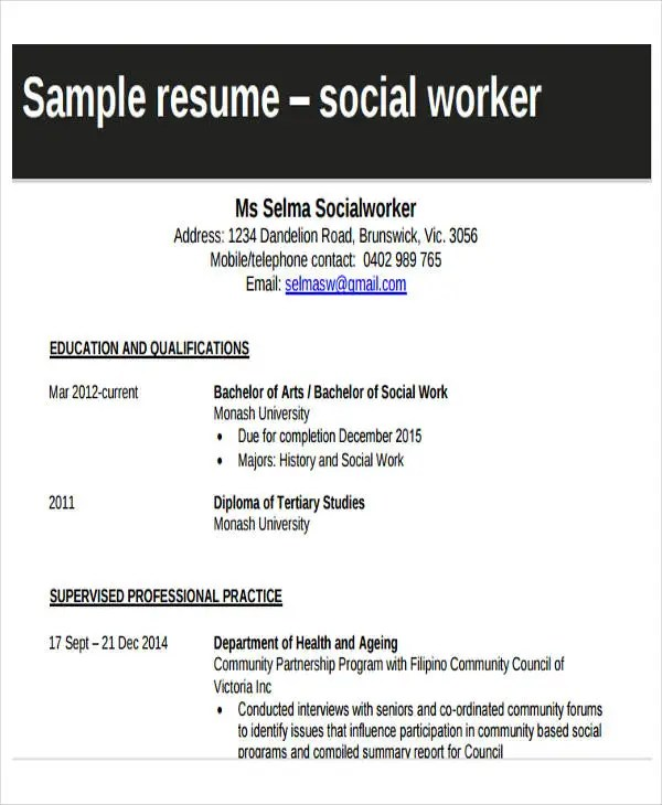 20+ Printable Work Resume Templates - PDF, DOC | Free & Premium ...