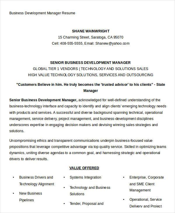 school resume format