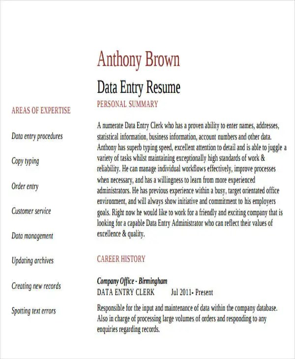 25 Printable Work Resume Templates Free & Premium Templates