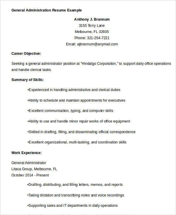 best resume sample doc