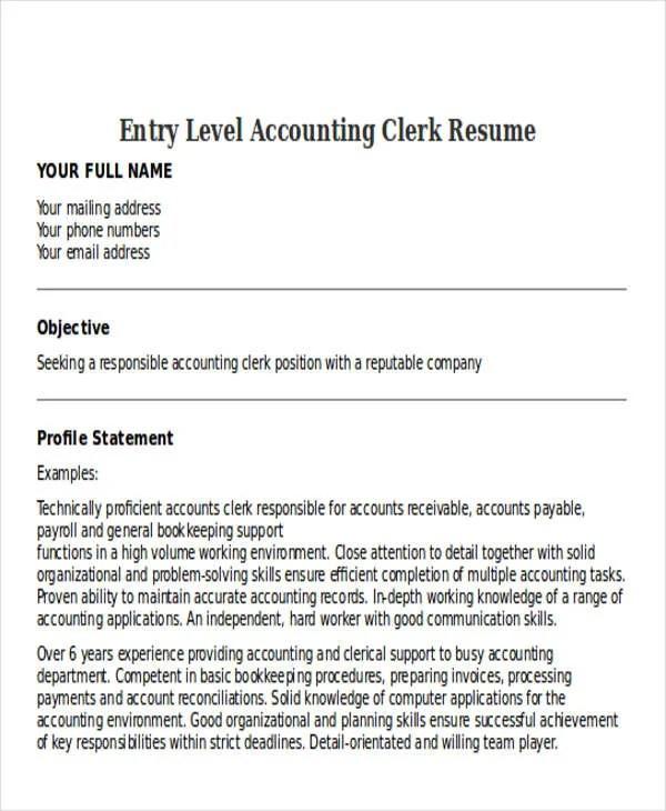 30 Accountant Resume Templates Download  Free  Premium Templates