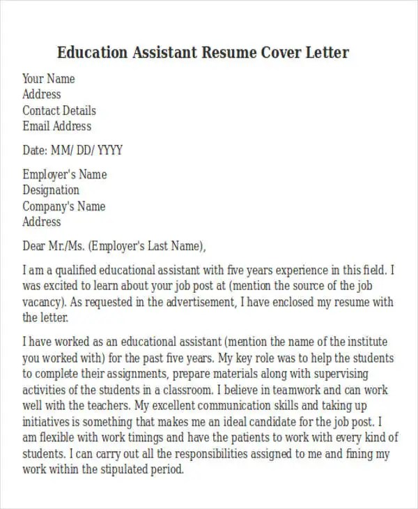 Cover Letter Assistant Office Manager