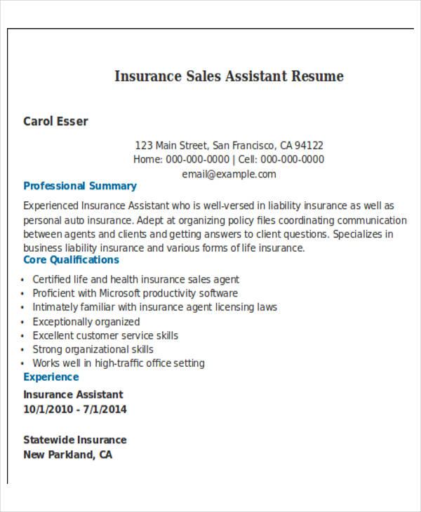 free sales resume format download