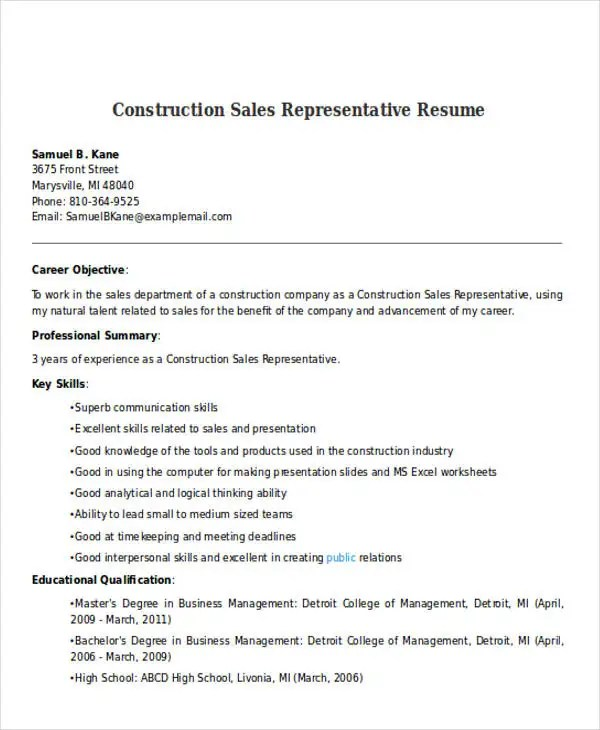 Best Sales Resume Free & Premium Templates