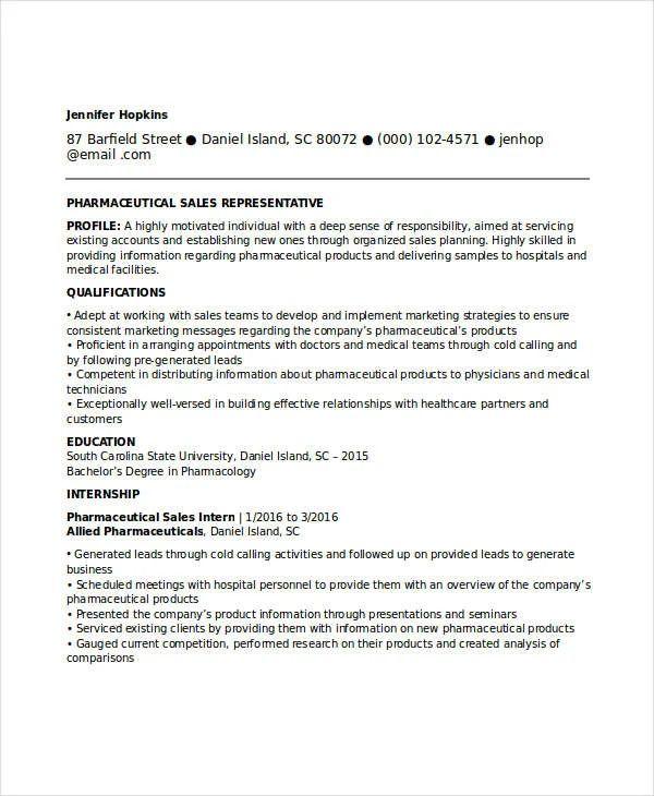 sales resume profile