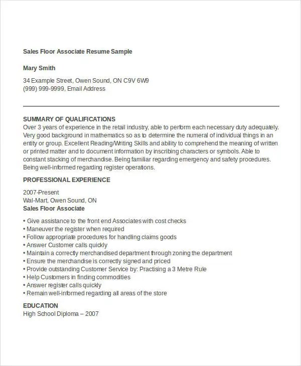 30 Free Sales Resume Templates  PDF DOC  Free