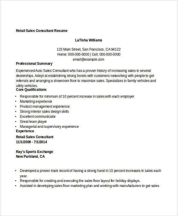 consultant resume doc