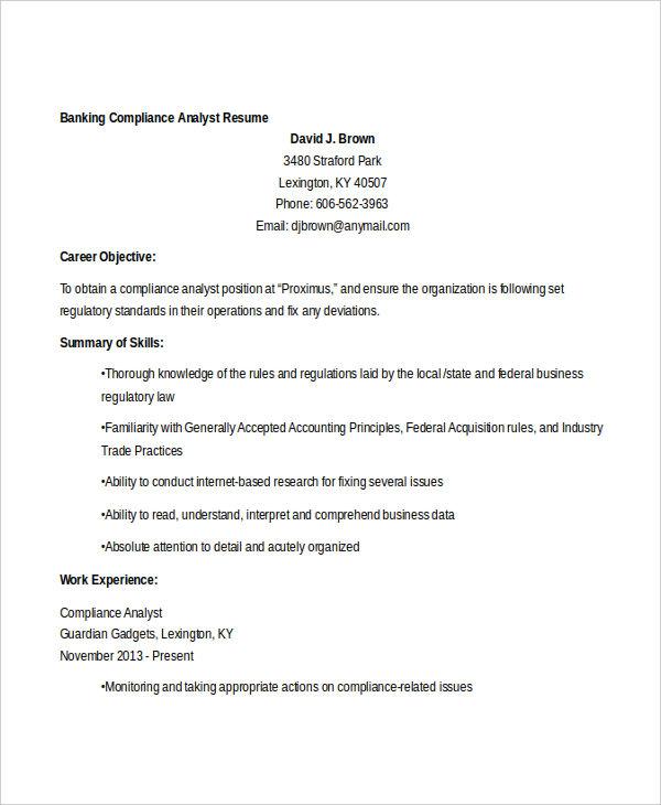 20 Free Banking Resume Templates  PDF DOC  Free  Premium Templates