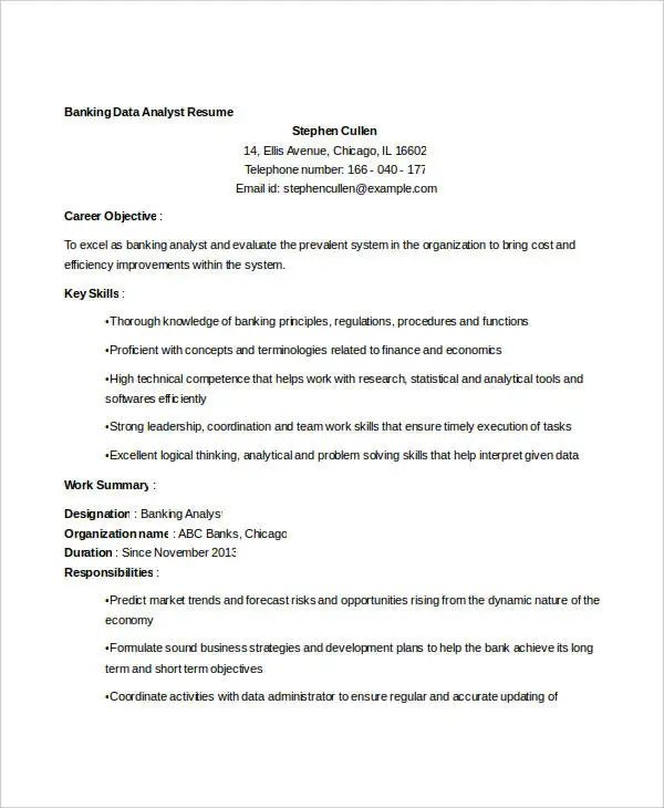 sample email resume template