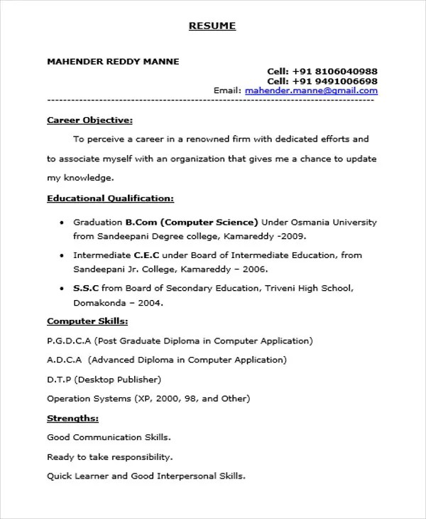 Good Resume For Any Job Free Professional Resume Templates