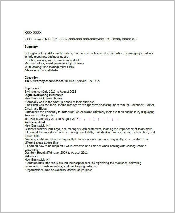 45+ Marketing Resume Templates - PDF, DOC | Free & Premium Templates