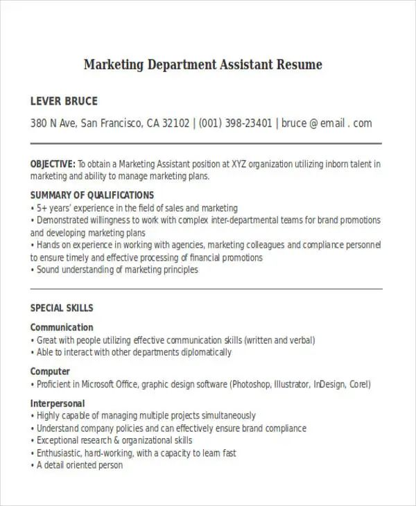 simple and free resume templates