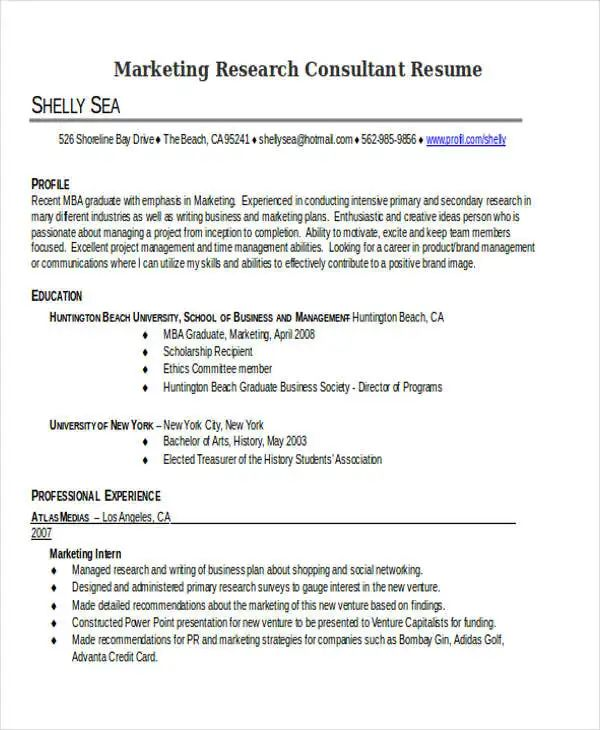 30 simple marketing resume templates