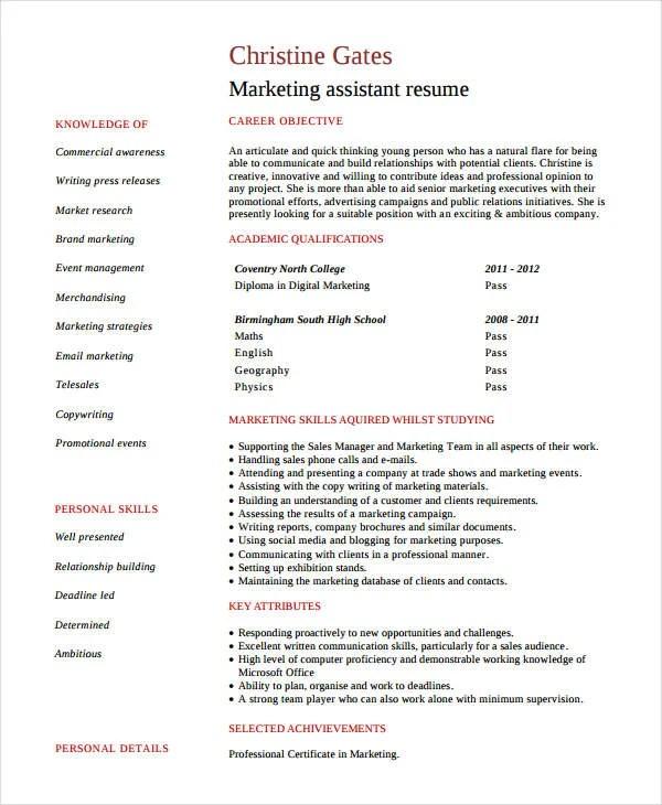 Modern Marketing Resumes 32 Free Word PDF Documents