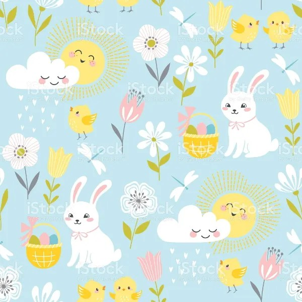 Wallpaper Cartoon Cute Pink 20 Easter Patterns Printable Psd Jpg Eps Format