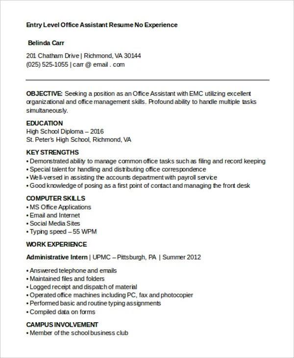 15 Best Work Resume Templates  PDF DOC  Free  Premium Templates